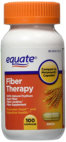 Equate – Fiber Therapy – Compare to Metamucil – For Regularity Fiber Supplement, 100 Capsules