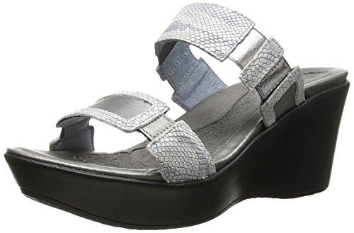 (NAOT Women's Treasure Wedge Sandal, Silver Snake, 41 EU/10 M US)