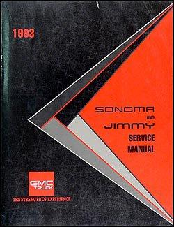 1993 gmc sonoma pickup and jimmy repair shop manual original gmc rh amazon com 1993 GMC Jimmy MPG 1994 GMC Jimmy Interior