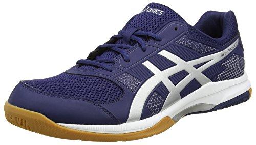 Price comparison product image Asics Gel-Rocket 8 Mens Indoor Court Shoes, Color- Navy/Silver, US Shoe Size- 11 US / 10 UK