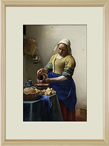 Creative 3D Visual Effect Wall Mural The Milkmaid 1658 by Jan Vermeer Peel Stick Wall Decor
