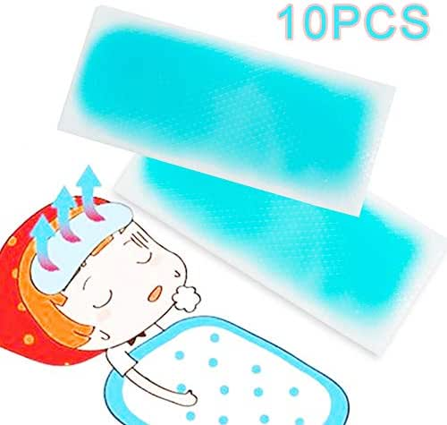 Careshine 10pcs Cooling Gel Patch Headache Fever Pain Stress Relief Kid Adults Therapy Set