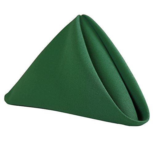 "(Sigmatex - Lanier Textiles 100% Murata Jet Spun (MJS) Polyester Cloth Napkins, 20"" x 20"" Finished Size, 1 Dozen (Forest Green))"