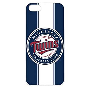 MLB Major League Baseball Minnesota Twins Case For Iphone 5/5S Cover PC Soft (White)