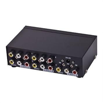 E-SDS 1 In 4 Out 3 RCA AV Audio Video Splitter for: Amazon.co.uk ...