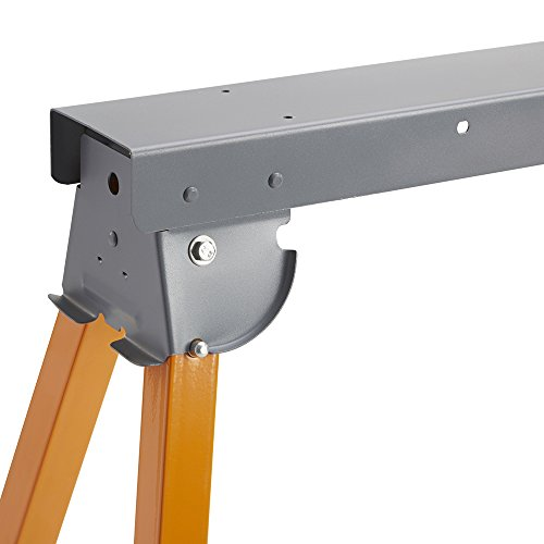 All Steel Folding Sawhorse - Pair BORA Portamate PM-3300T. TWO 33-Inch Tall Fold-up Heavy Duty Saw Horses. Fully Assembled, 1,000lb. Capacity (500lbs. each) and Quickly Folds Up for Easy Storage by PortaMate (Image #4)