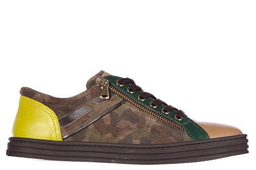 Hogan Rebel Damenschuhe Turnschuhe Damen Leder Schuhe Sneakers rebel r141 Braun