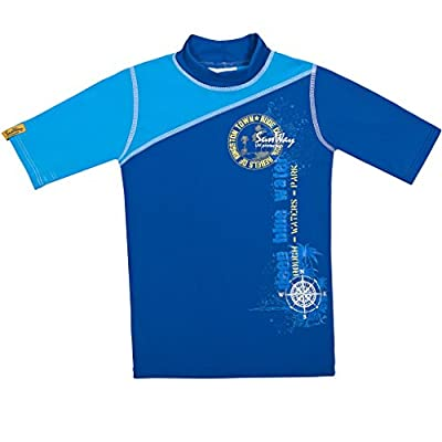 SunWay Rash Guard boys Shirt swimsuit UPF 50 UV Sun Protective