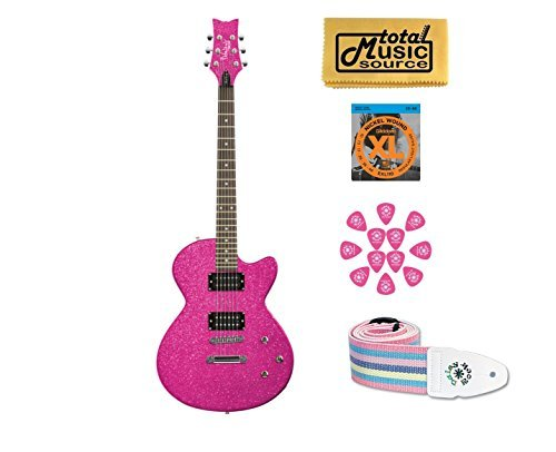 (DAISY ROCK Debutante Rock Candy Atomic Pink Electric Guitar, 14-7751)