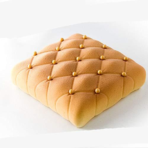 Joyeee Antiadherente de Molde para Torta de Silicona, Molde para Hornear en Forma de 3D Rombo, para Pan, Panecillo, Hornear, Tarta, Pasteles de cumpleaños ...