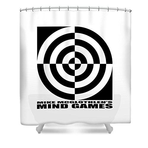Pixels Shower Curtain (74'' x 71'') ''Mind Games 1se''