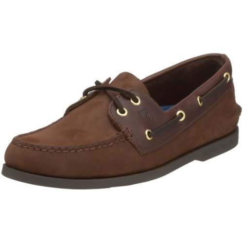 Mens Sperry Topsider, Autentica Scarpa Originale Da Barca In Pelle Scamosciata Marrone Da 10ww