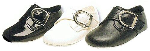 Baypods Baby Jungen weicher Sohle Classic Gibson Stil Schnalle Design Kinderwagen Schuh erhältlich in 3Farben. Hochzeit Taufe, besonderen Anlass. Mattbraun