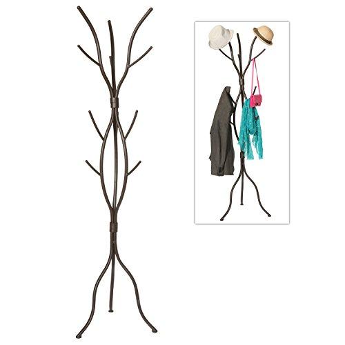 MyGift Modern Tree Branch Black Metal Freestanding Entryway Coat Hanger Stand/Hallway Garment Rack