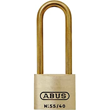 ABUS 55MBHB/40 C KD 1.5-Inch All Weather Solid Brass Keyed Different Padlock with Brass Shackle