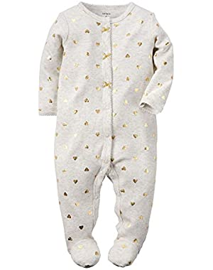 Baby Girls' Cotton Sleep and Play