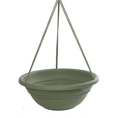 Bloem MBHB151742-12 12-Pack Milano Hanging Basket/Planter, 17-Inch, Living Green by Bloem