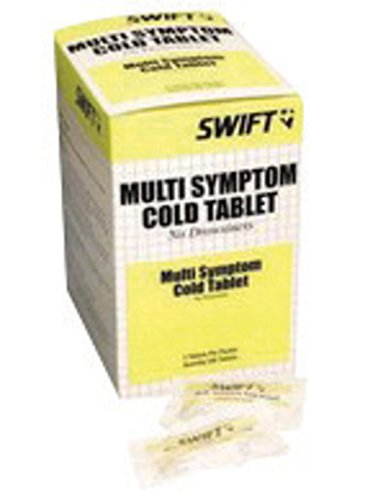Multi Symptom Cold Relief - Honeywell 2108500 North by Swift First Aid Multi-Symptom Cold Relief Tablet, Plastic, 1