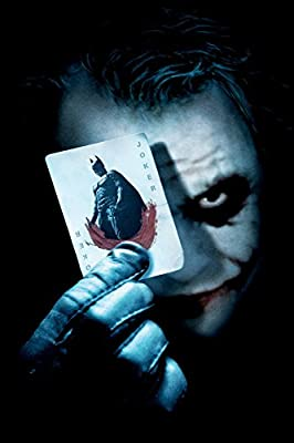 """CGC Huge Poster - DC The Dark Knight Joker Textless Movie Poster - (12"""" x 18"""" ) By A-ONE POSTERS"""