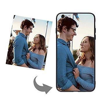 Carcasa teléfono personalizada cristal templado carcasa trasera rígida parachoques delgada silicona TPU funda antigolpes para iPhone 6/6S Plus, iPhone ...
