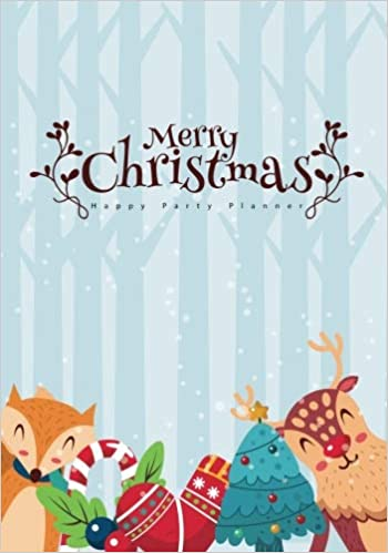 merry christmas happy party planner holiday organizer shopping