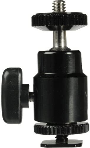 3 Pack Vello Multi-Function Ball Head with Removable Top /& Bottom Shoe Mounts