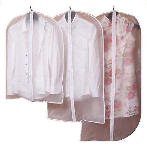 Chery-Story Dustproof Covers Transparent Dress Clothes Coat Garment Suit Cover Case Home Zipper Protector Wardrobe Storage Bags,60cmx120cm]()
