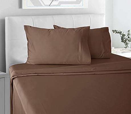 300 Hilos 100% satén de algodón Juego de sábanas, de algodón Peinado Puro Natural. Tela Decorativa, Suave y Sedoso Tejido Hojas 4 Piezas por Chateau casa: Amazon.es: Hogar