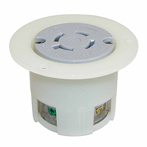 Superior Electric YGF040F Twist Lock Receptacle Flange 3-Pole 4-Wire 20A 125/250V NEMA L14-20R -