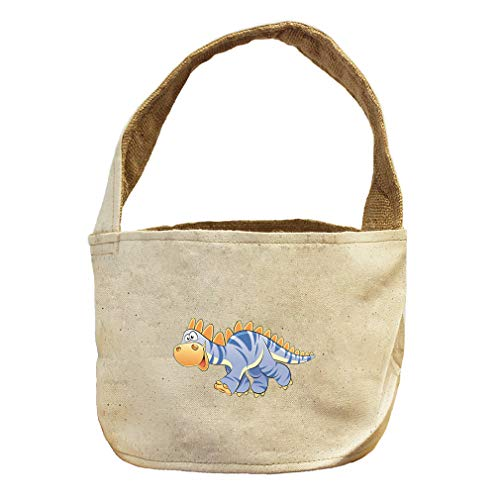 Style in Print Dinosaur Blue Facing Left Animals Canvas and Burlap Storage Basket by Style in Print