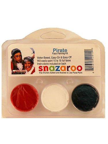 [Snazaroo SZTHEMEPIRAT Pirate Theme Face Paint Kit] (Face Pirate Makeup)