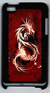 iPod 4 Case and Cover Blood Red Dragon HAC1014064 PC case Cover for iPod 4 Black