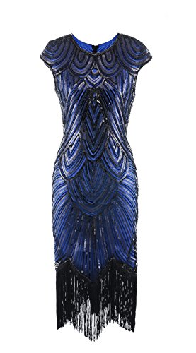 Tank Sequin Sleeveless Short Art Deco Gatsby Style Flapper Dresses 1920s ()