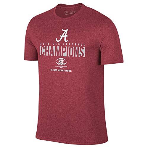 Elite Fan Shop Alabama Crimson Tide SEC Champs Tshirt 2018 Locker Room - L