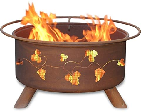 Patina Products F111, 30 Inch Grapevines Fire Pit - Patina Pits