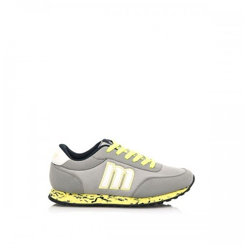 Mtng , Chaussures de ville à lacets pour femme Gris-jaune