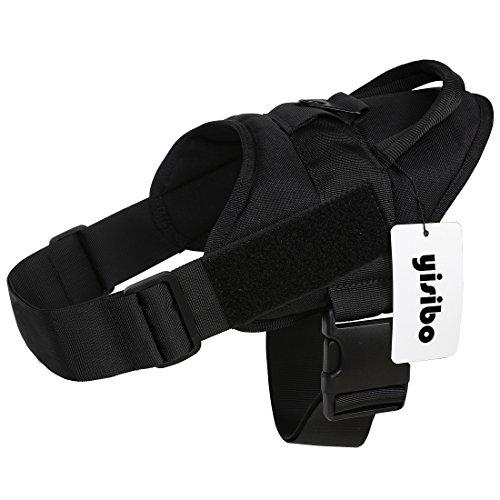 yisibo Service Dog Vest Harness No-Pull Nylon K9 Patrol Military Training Dog Vest with Handle,Small(19.5