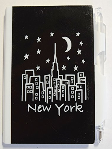 New York Memo Notebook Notepad Pen Set Hard Plastic Mini Pen and Pad Note Set 100 Sheets of Paper with Retractable Pen 3 x 4 Inches (NY - Fifth Ny