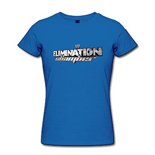 AOPO WWE Elimination Chamber LOGO 2015 Tee Shirts For Women X-Large RoyalBlue