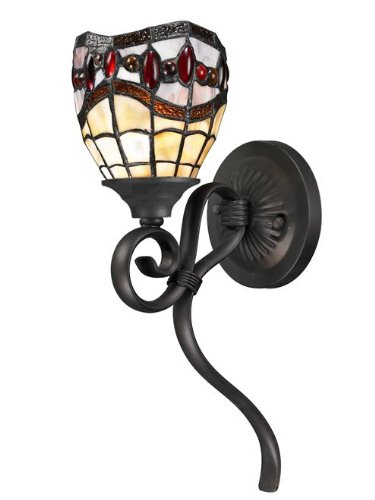 Dale Tiffany TW12424 Fall River Wall Sconce, Dark Bronze