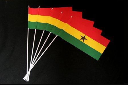 Menge-4  1000er Packung Papierfähnchen  Ghana 1000er Packung