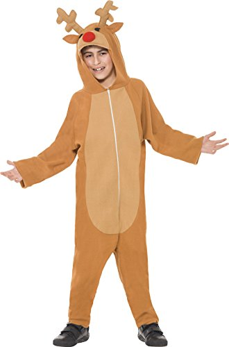 Smiffy's Kids Reindeer Costume, Jumpsuit, Brown, 39801