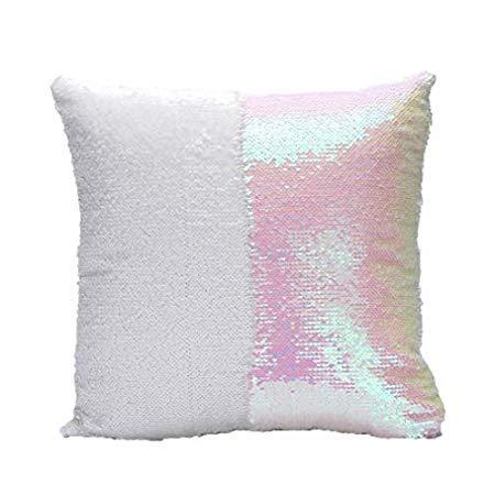 2017 Magic Reversible Bling Sequin Mermaid Glitter Letter Pillow Case - Pillow Case]()