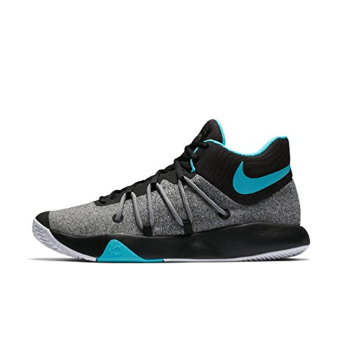 Nike Men's KD Trey 5 V Basketball Shoes, Black/ White Gamma Blue 10.5