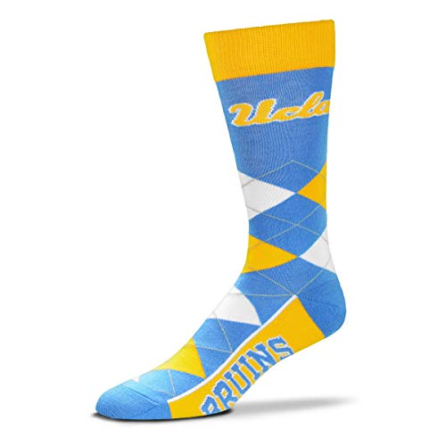 NCAA UCLA Bruins Argyle Unisex Crew Cut Socks - One Size Fits Most
