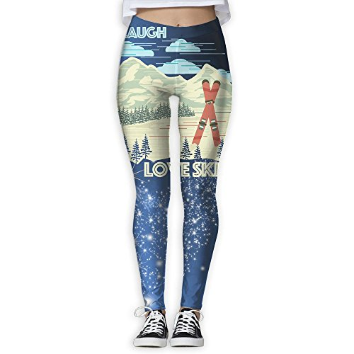 Hkmu Design Active Laugh Love Ski Skiing Gift Sport Pants For - Tahoe Heavenly