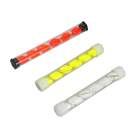 Aventik 3 Tubes X 6 Pcs Per Tube Float Foam Strike Indicator for Fly Fishing (White, 12X8)