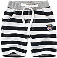 Toddler Knee High Pants Kids Summer Clothes Little Boys Bermuda Shorts Stripes Casual Mid Thigh Short Oants