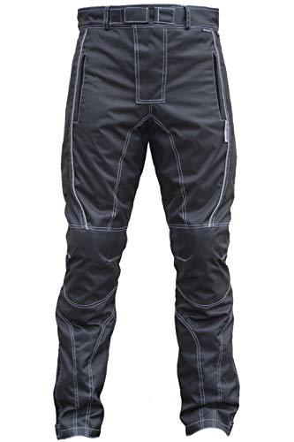 Herren Motorradhose Textilien Motorrad Hose Kombihose Schwarz, Größe:56