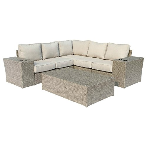 Aluminium Outdoor Furniture - Chelsea Collection Outdoor Seating Aluminium Frame Furniture For Garden,Backyard,Pool With Cushioned Seat By Century modern outdoor [CM-4226] (Wicker 8-piece Sectional Sofa Set)